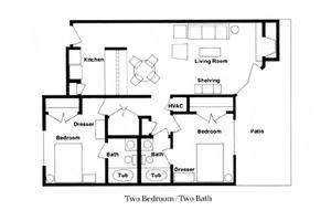 Two Bedroom / Two Bath, Parkwood Retirement Community