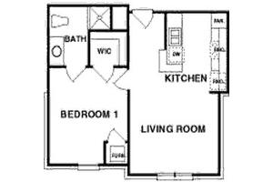 The Washington - One Bedroom, Northpoint Village of Utica