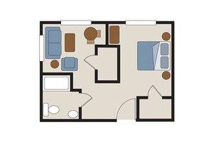 MC - One Bedroom B, Rittenhouse Village At Spring Creek