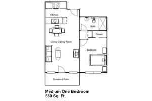 Medium One Bedroom, Brookdale Margate