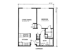 One Bedroom Standard, Meridian Lakewood