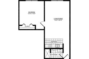 One Bedroom Deluxe, American House Dearborn Heights Senior Living