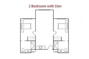 2 Bedroom with Den, La Vida at Mission Viejo