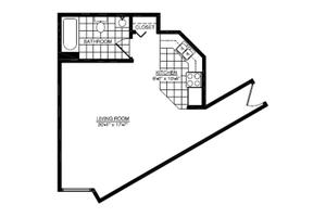 One Bedroom B, American House East I Senior Living