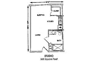 Studio, Brookdale Conway