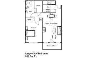 Large One Bedroom, Brookdale Margate