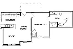 The Franklin - One Bedroom, Northpoint Village of Utica