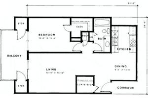 One Bedroom Deluxe, Meridian Lakewood