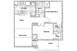 Unit B1, Terrell Senior Terraces
