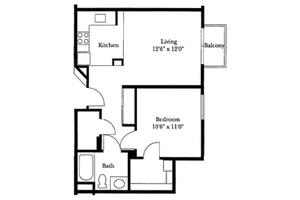 One Bedroom Deluxe, Brookdale San Marcos