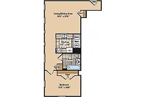 One Bedroom B, Livingston Manor