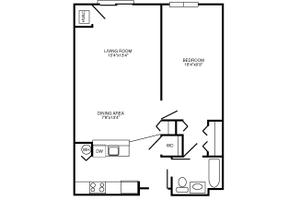 B Floor Plan, Commonwealth Senior Living at Charlottesville