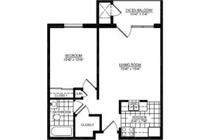 One Bedroom A, American House Oakland Senior Living