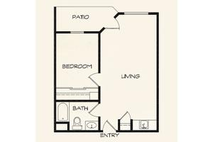 One Bedroom, Landing at Behrman Place Retirement