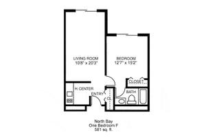One Bedroom F, Brookdale Smithfield