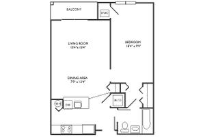 A Floor Plan, Commonwealth Senior Living at Charlottesville