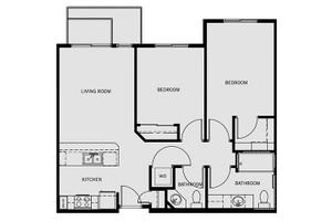 Two-Bedroom/One-and-a-Half Bath, Affinity at Monterrey Village