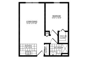 One Bedroom, American House Dearborn Heights Senior Living