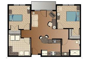 Two-Bedroom Assisted Living Apartments, WinnPrairie