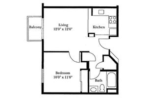 One Bedroom, Brookdale San Marcos