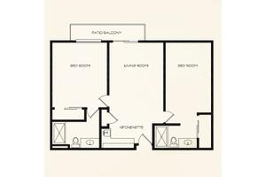Two Bedroom, Summerfield Estates Retirement Comm