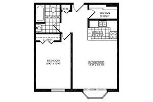 One Bedroom A, American House East I Senior Living