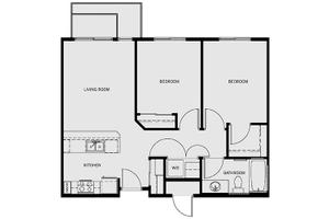 Two-Bedroom/One Bath, Affinity at Monterrey Village