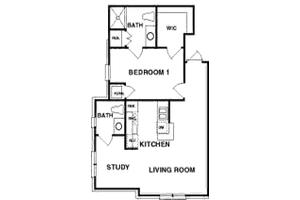 The Hamilton - One Bedroom, Northpoint Village of Utica