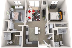 Two-Bedroom, Treeo