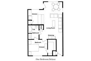 One Bedroom Deluxe, Parkwood Retirement Community