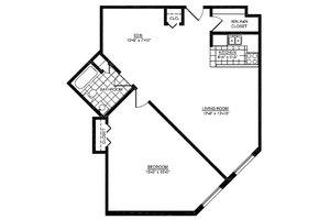One Bedroom D, American House East I Senior Living