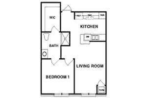 The Lincoln - One Bedroom, Northpoint Village of Utica