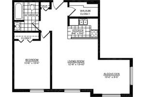 One Bedroom C, American House East I Senior Living