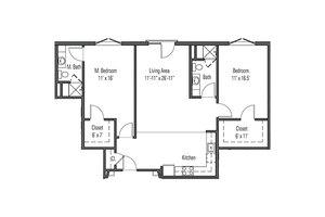 Two Bedroom Classic Apartment, John Knox Village