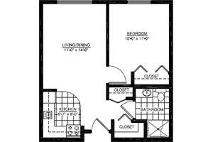 One Bedroom D, American House Village Senior Living