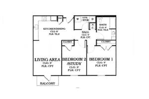 "Floor Plan ""B"", Oak Tree Manor Apartments"