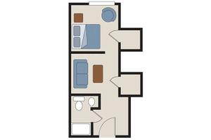 MC - One Bedroom A, Rittenhouse Village At Spring Creek