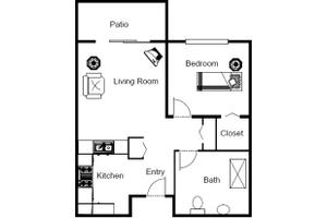 One Bedroom A, Brookdale Fort Myers Cypress Lake