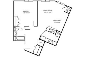 D Floor Plan, Commonwealth Senior Living at Charlottesville