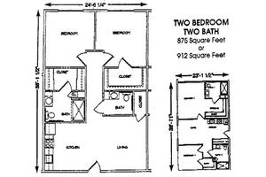 2 Bedroom 2 Bath, Brookdale Conway