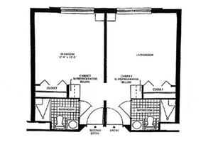 Two Room Apartment, Brookdale Echelon Lake