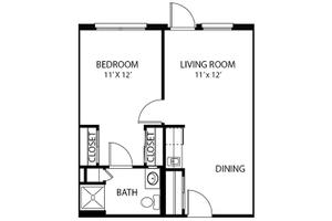 Independent Living One Bedroom B1, The Wellington at North Richland Hills