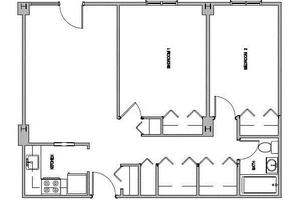Two Bedroom, Jaclen Tower Apartments