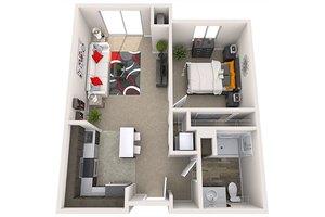 Bigger One-Bedroom, Treeo
