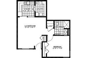 One Bedroom A, American House Village Senior Living