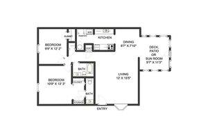 Two Bedroom Cottage, John Knox Village