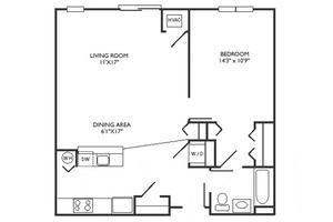 C Floor Plan, Commonwealth Senior Living at Charlottesville