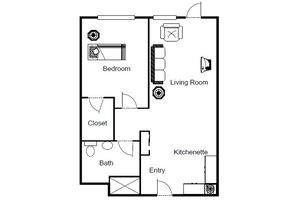 One Bedroom Suite, Brookdale Colonial Park